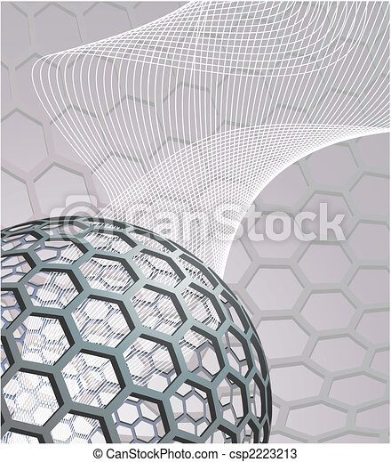 abstract background with buckyball - csp2223213