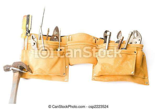 suede leather tool belt - csp2223524