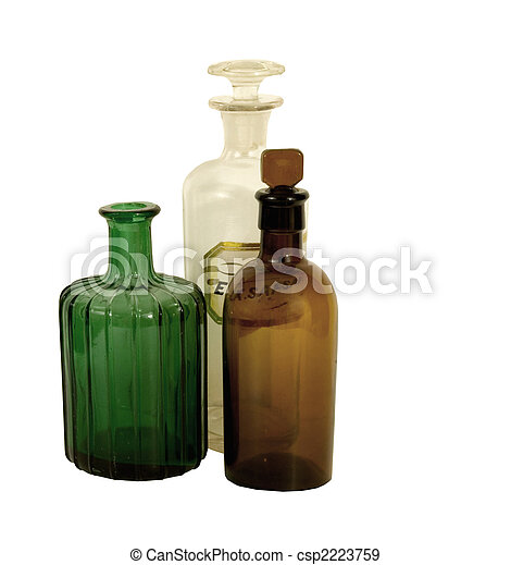 ANTIQUE APOTHECARY BOTTLES - csp2223759