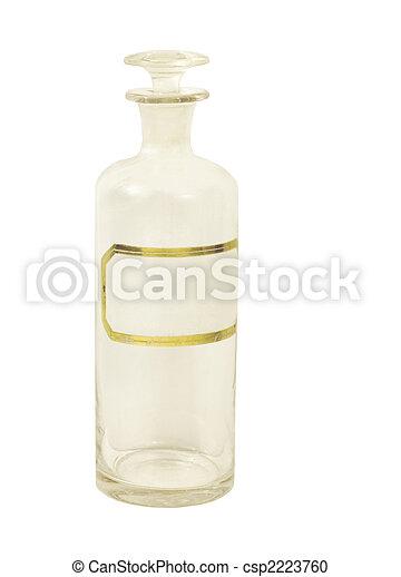 ANTIQUE PHARMACEUTICAL GLASS BOTTLE - csp2223760