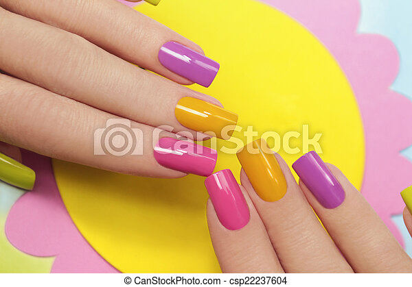 Solar manicure.