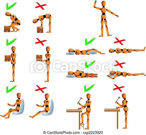 Healthy posture - csp2223920