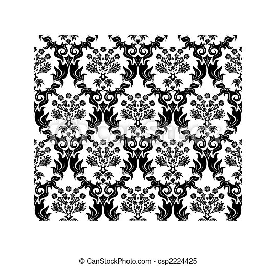 seamless damask pattern - csp2224425