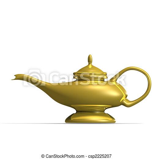 Aladdins magical lamp - csp2225207