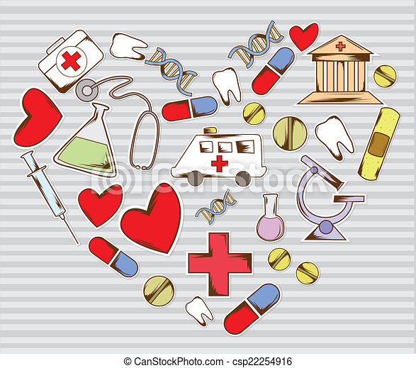 Vector Clip Art of Love medical equipment csp22254916 ...