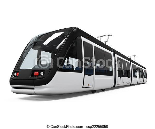 Illustrations de moderne tram isol sur blanc fond 3d render csp22255058 recherchez des - Dessin tramway ...