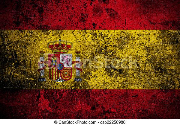 Illustration de madrid drapeau grunge espagne capital grunge drapeau csp22256980 - Drapeau d espagne a colorier ...