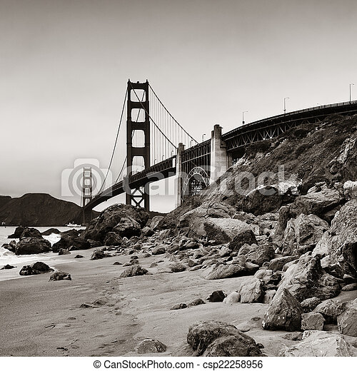 Golden Gate Bridge - csp22258956
