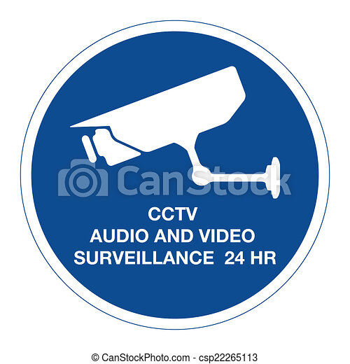 Vector Clip Art of CCTV audio and video surveillance 24 hours ...
