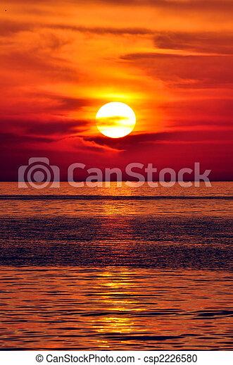 Griechenland, Kreta, Sonnenuntergang - csp2226580