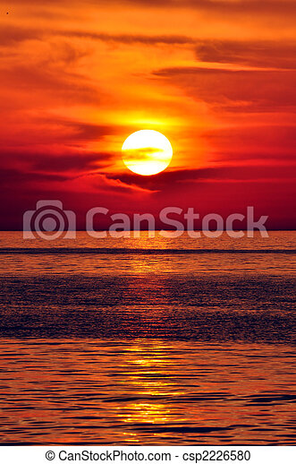 greece., kreta, sunset. - csp2226580