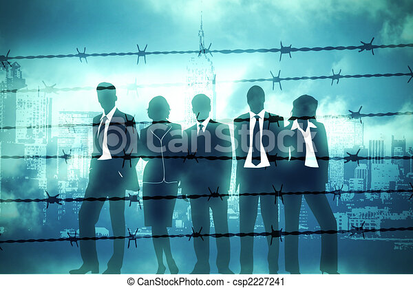 Manager behind Barbed wire - csp2227241