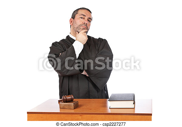 Serious male judge thinking - csp2227277