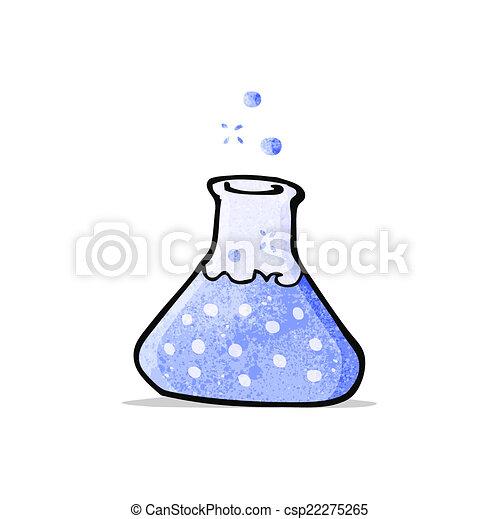 experimento de la ciencia, caricatura - csp22275265