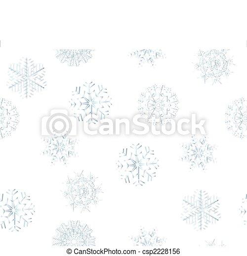 seamless snowflakes - csp2228156