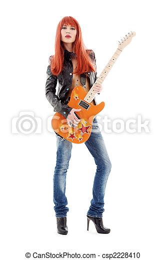 guitar babe - csp2228410