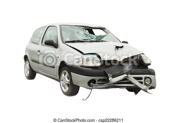Clipart of wrecked car accident - wrecked car from accident ...