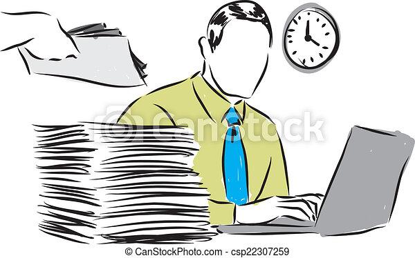 Clipart vettoriali di lavoro ufficio, affari, illustrazione ...