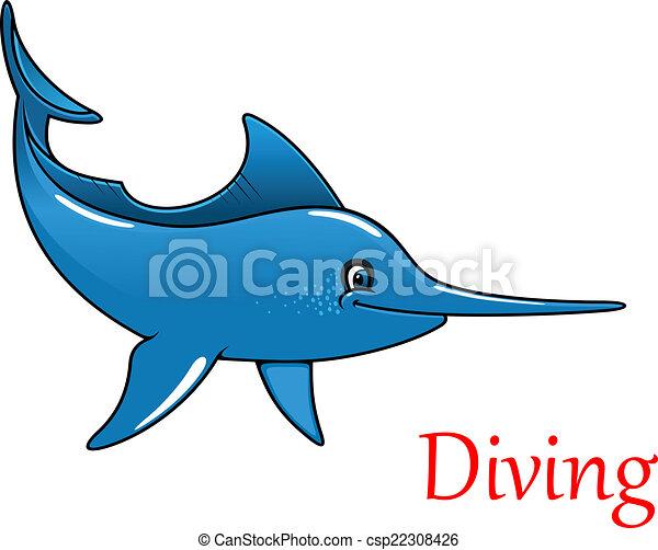vector illustration of cartoon swordfish character swordfish clip art silhouette swordfish clipper