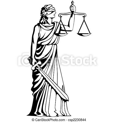 drawing of judgement femida goddess of judgement