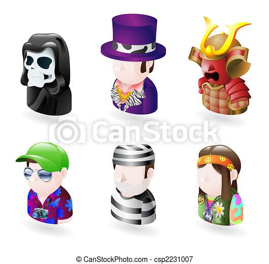avatar people internet icon set - csp2231007