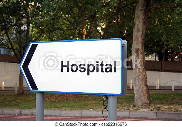 病院, 印 - csp22316676