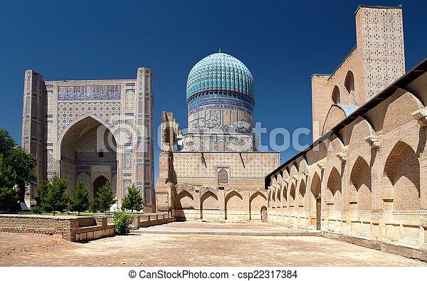Bibi-Khanym mosque - Registan - Samarkand - Uzbekistan - csp22317384