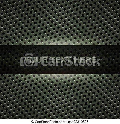 Dark green metal background - csp22319538
