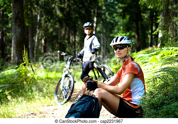 cycling woman - csp2231967