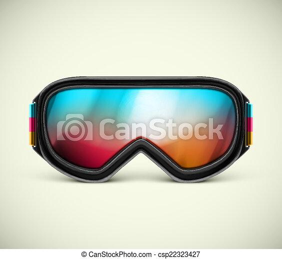 Ski Goggles Vector Ski Goggles Csp22323427