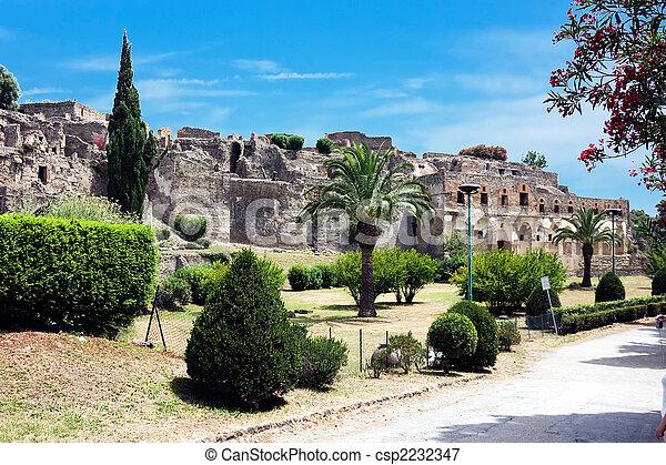 Ruins of Pompey after eruption of a volcano of Vesuvius - csp2232347