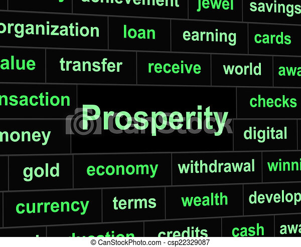 Stock Illustration of Rich Prosperity Represents Riches Treasure And Wealth - Rich ...