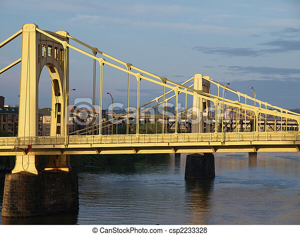 Twin Bridges in Pittsburgh - csp2233328
