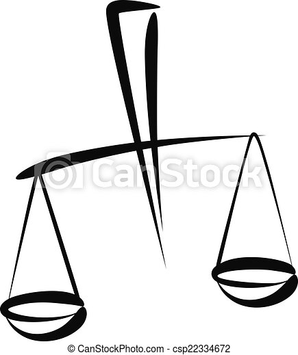 Illustrations vectoris es de balance simple vecteur illustration de a libra - Dessin de balance ...