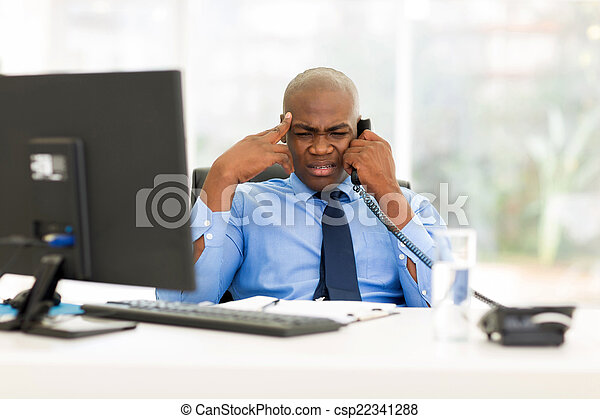 african business man talking on telephone - csp22341288