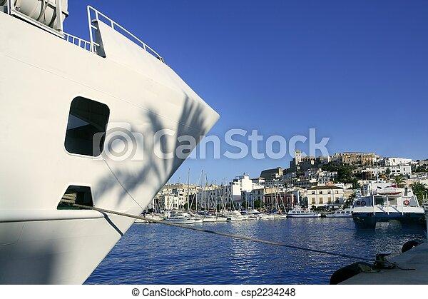 Ibiza landmark island in Mediterranean sea - csp2234248
