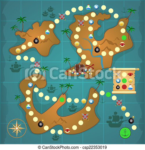 Pirates Treasure Island Game