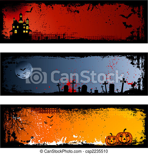 Halloween backgrounds - csp2235510
