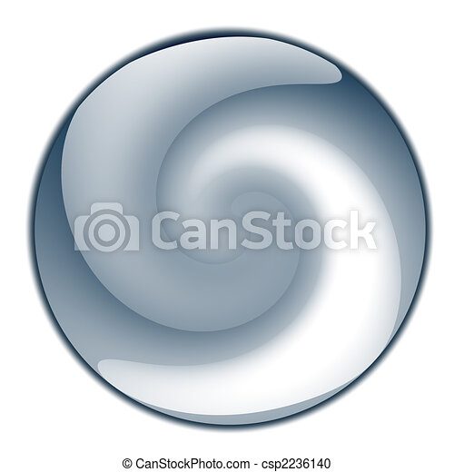Blue glossy sphere or button - csp2236140