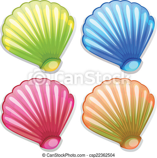 vector clipart of colourful shells illustration of the clip art crab cakes clip art crappie