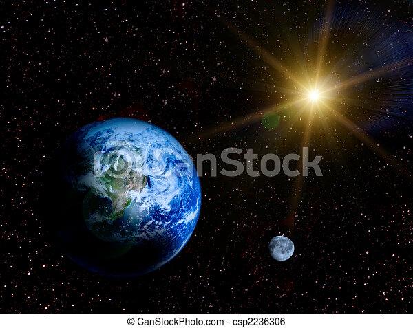Image de espace paysage la terre lune univers for Paysage espace