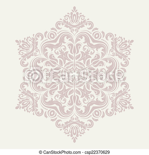 Orient vector ornamental round lace - csp22370629