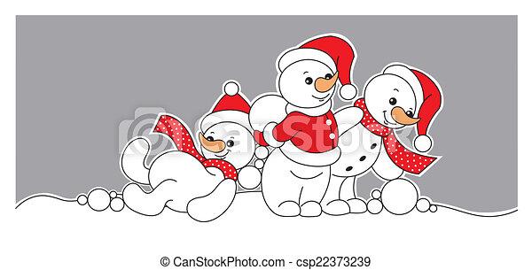 snowmen - csp22373239