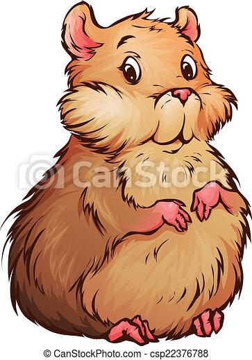 Vecteur de style vecteur hamster illustration dessin - Hamster dessin anime ...