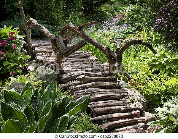 images de beau jardin paysage bois pied pont beau jardin csp2238878 recherchez des. Black Bedroom Furniture Sets. Home Design Ideas