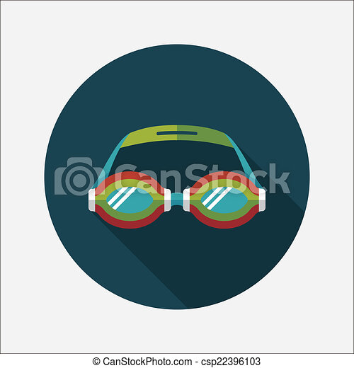 Swimming Goggles Vector Vector Swimming Goggles Flat