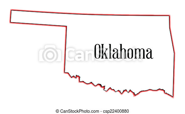 Vector of Oklahoma - Outline map of the USA state of Oklahoma ...