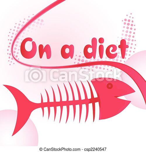 Fish bones diet - csp2240547