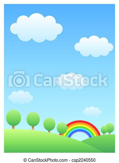 rainbow & hill - csp2240550
