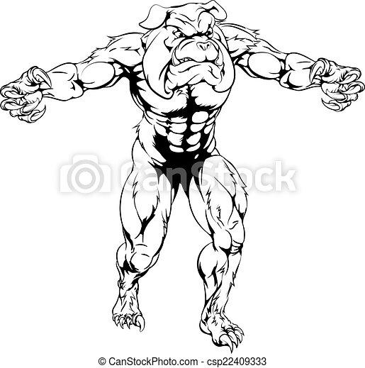 Bulldog Mascot Drawing